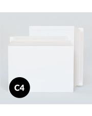 Koperta kartonowa C4 (229x324mm) 100 szt. biała kurierska (po długim boku)