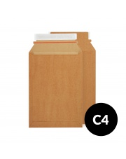 Koperta kartonowa C4 (229x324) 100szt. brązowa (po krótkim boku)