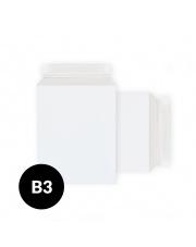 Koperta kartonowa B3 (370x520mm) 100 szt. biała (po krótkim boku)