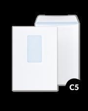 Koperta C5 biała HK z oknem (162x229) 500 szt.