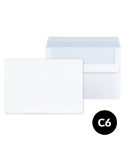 Koperta C6 biała SK (114x162) 1000 szt.