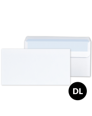 Koperta DL biała SK (110x229) 1000 szt.