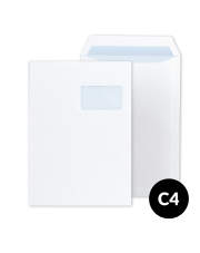 Koperta C4 biała HK z oknem (229x324) 250 szt.